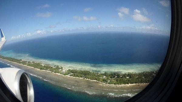 V73MT Посадка, Международный аэропорт Маршалловых островов, атолл Маджуро, Маршалловы острова.