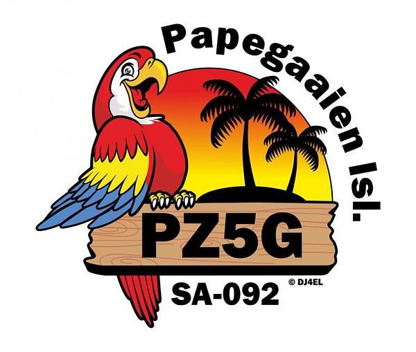 PZ5G PZ5GE Остров Papegaaine Суринам