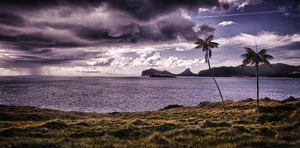 VK9LI Закат, залив влюбленных, остров Лорд Хау.