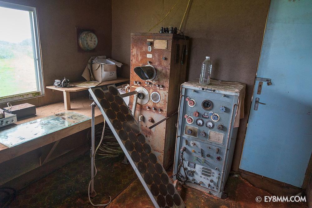 Часть оборудования проржавела насквозь, даже внутри помещения
