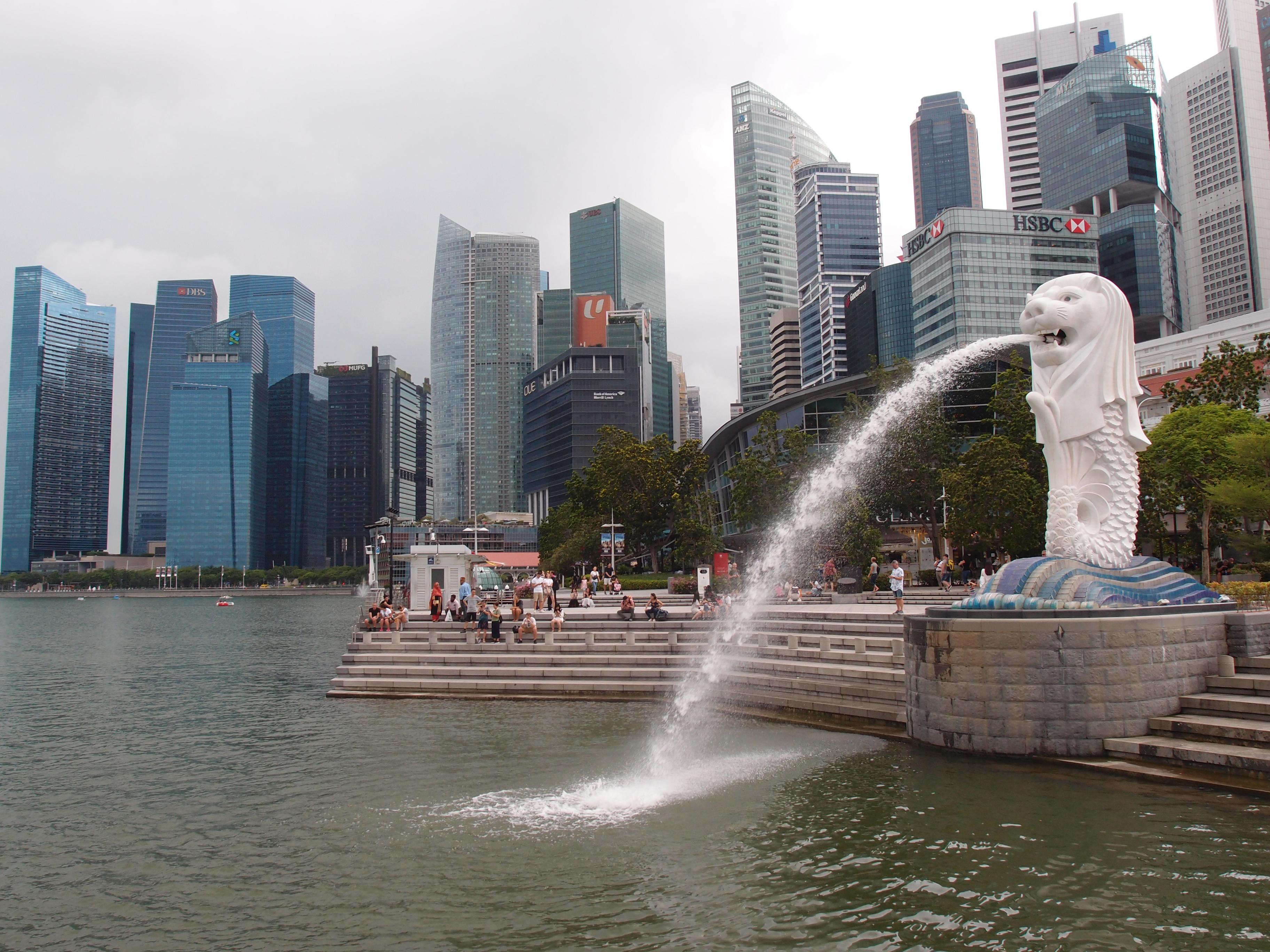 Сингапур -  символ города Мерлион