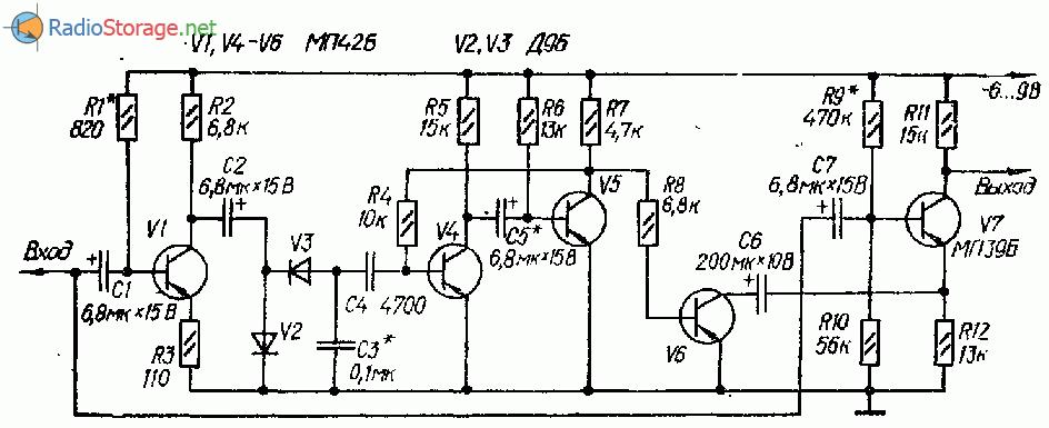 Схемы дисторшн приставок к электрогитаре на ОУ и транзисторах