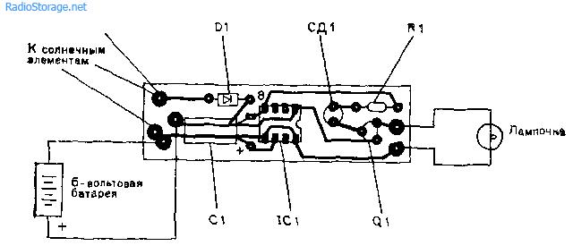 Сигнальный фонарик-маячок с питанием от солнца