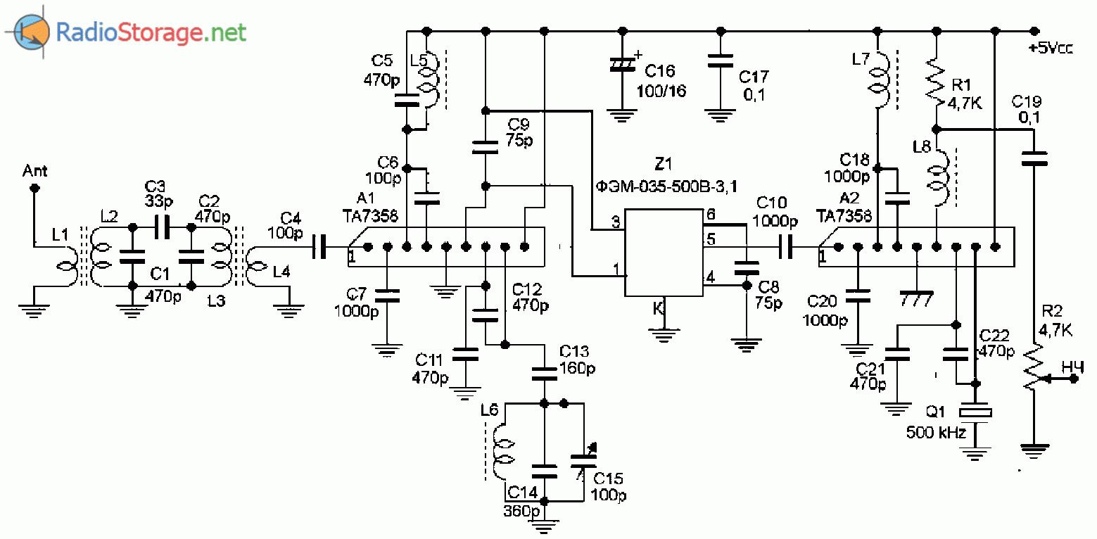 Принципиальная схема самодельного КВ SSB радиоприёмника на диапазон 160м