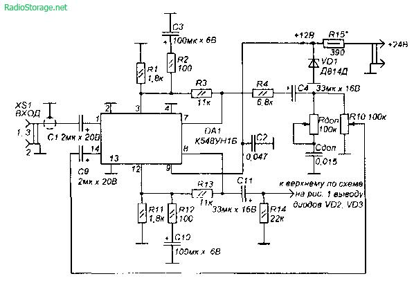 Переносной усилитель комбик для электрогитары с distortion (5Вт)