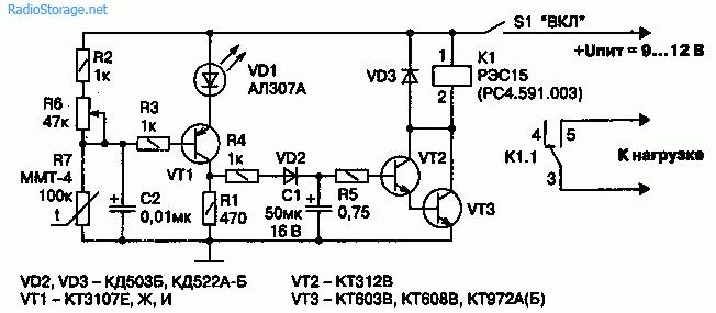 Принципиальная схема датчика пожара на транзисторах