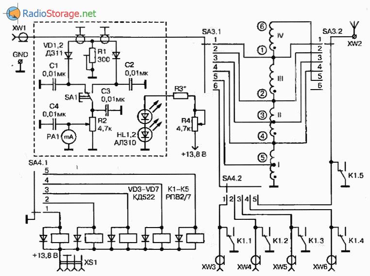 Антенный тюнер-коммутатор, назначение и принципиальная схема, схема
