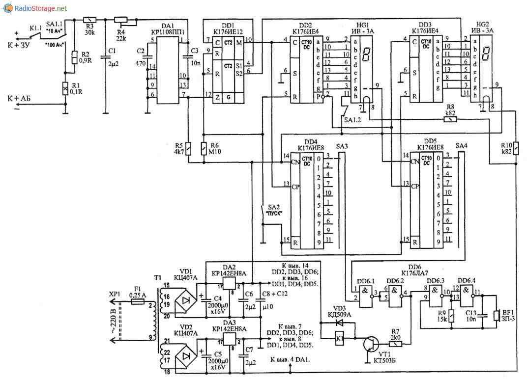 Схема измерителя емкости акб фото 363