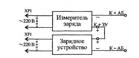 Измеритель заряда для автомобильного аккумулятора, схема