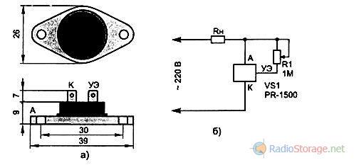 Фазовый регулятор мощности PR-1500 внешний вид и схема включения