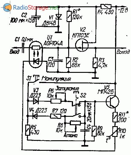 Оптронный манипулятор в электронных музыкальных инструментах