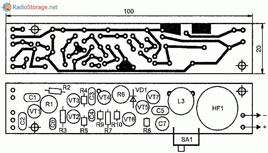 Печатная плата самодельного металлоискателя