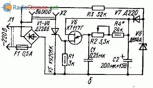 Переключатель гирлянд на однопереходном транзисторе