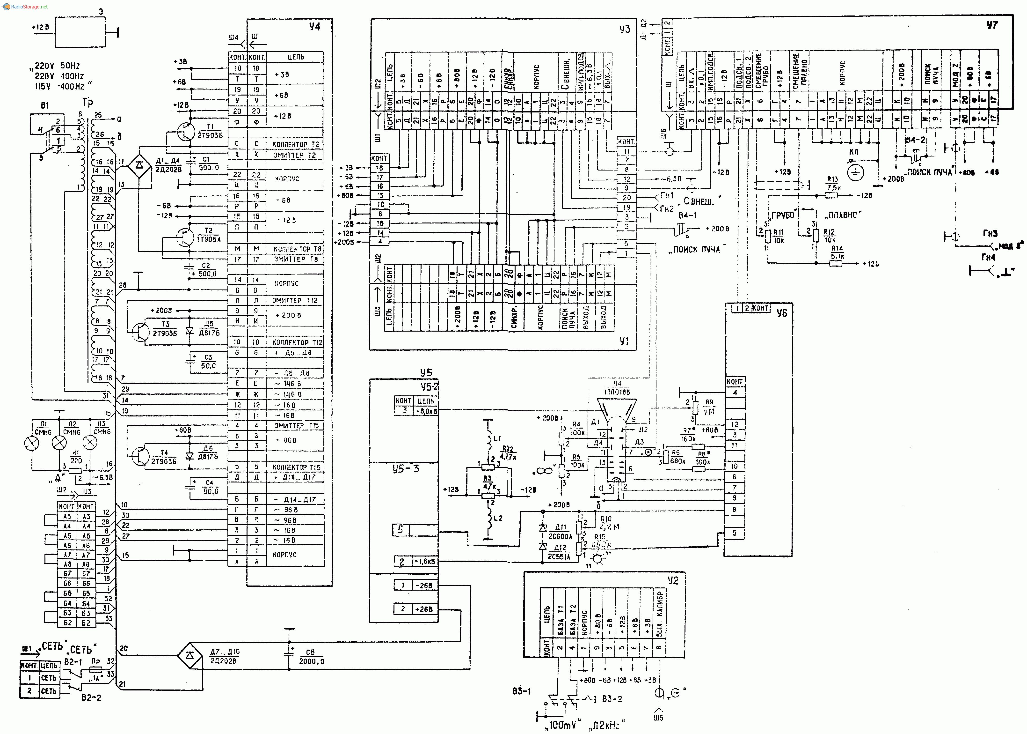 Осциллограф С1-76, схема