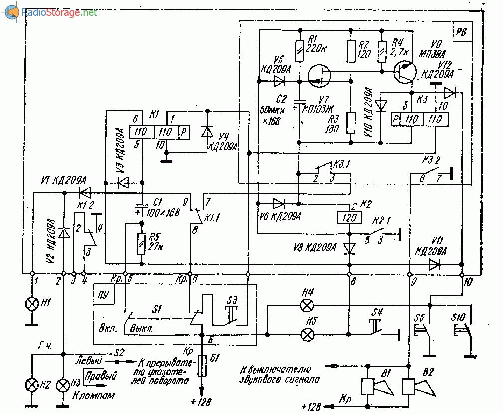 Электронный автосторож схема