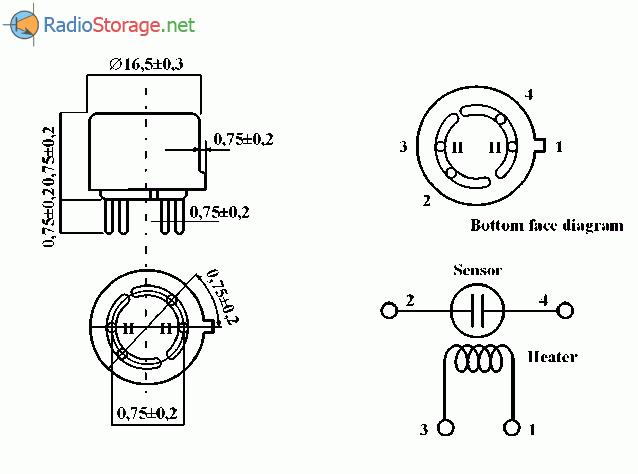 Электронный датчик газа на основе AF-50, схема