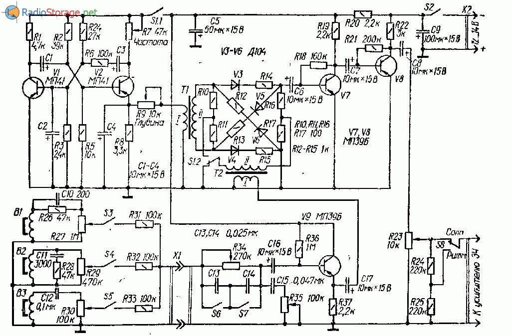 Транзисторный синтезатор для бас-гитар