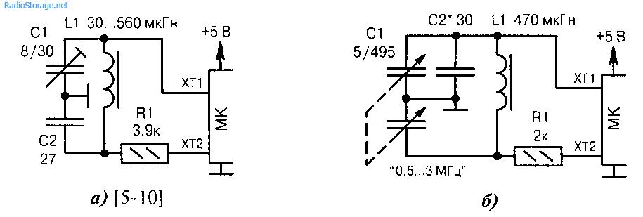Внешние RС и LC-генераторы
