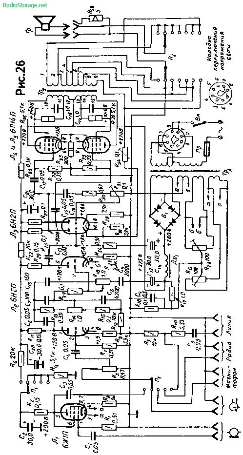 Стационарный ламповый усилитель Г. Гендина на 6Ж1П, 6Н2П, 6П14П