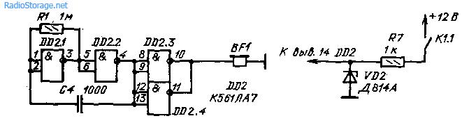 Схема включения звукового сигнализатора в указатель поворотов