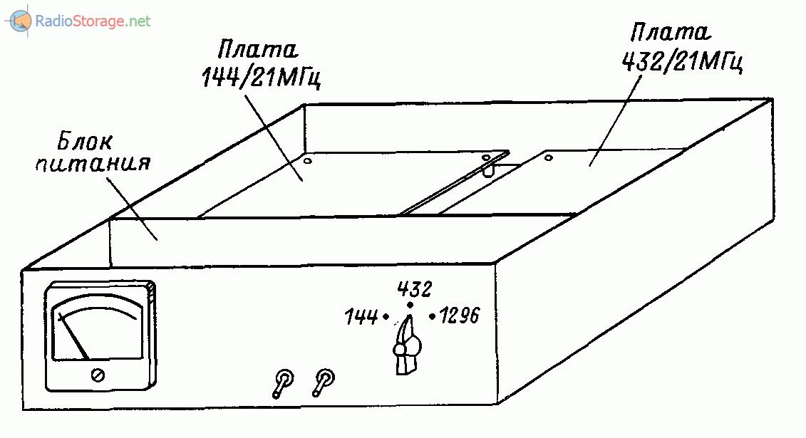 Внешний вид самодельной УКВ радиостанции на три диапазона