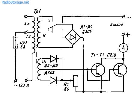 Схемы простых выпрямителей для зарядки аккумуляторов