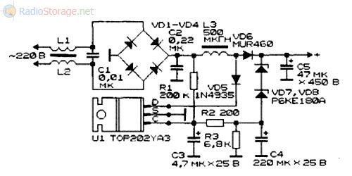 Схема корректора мощности