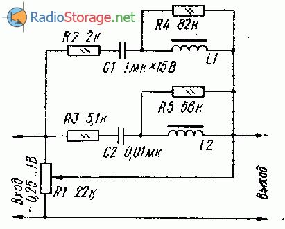 Тонкомпенсированный пассивный регулятор громкости