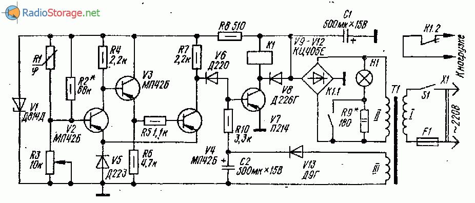 Схема регулятора влажности воздуха