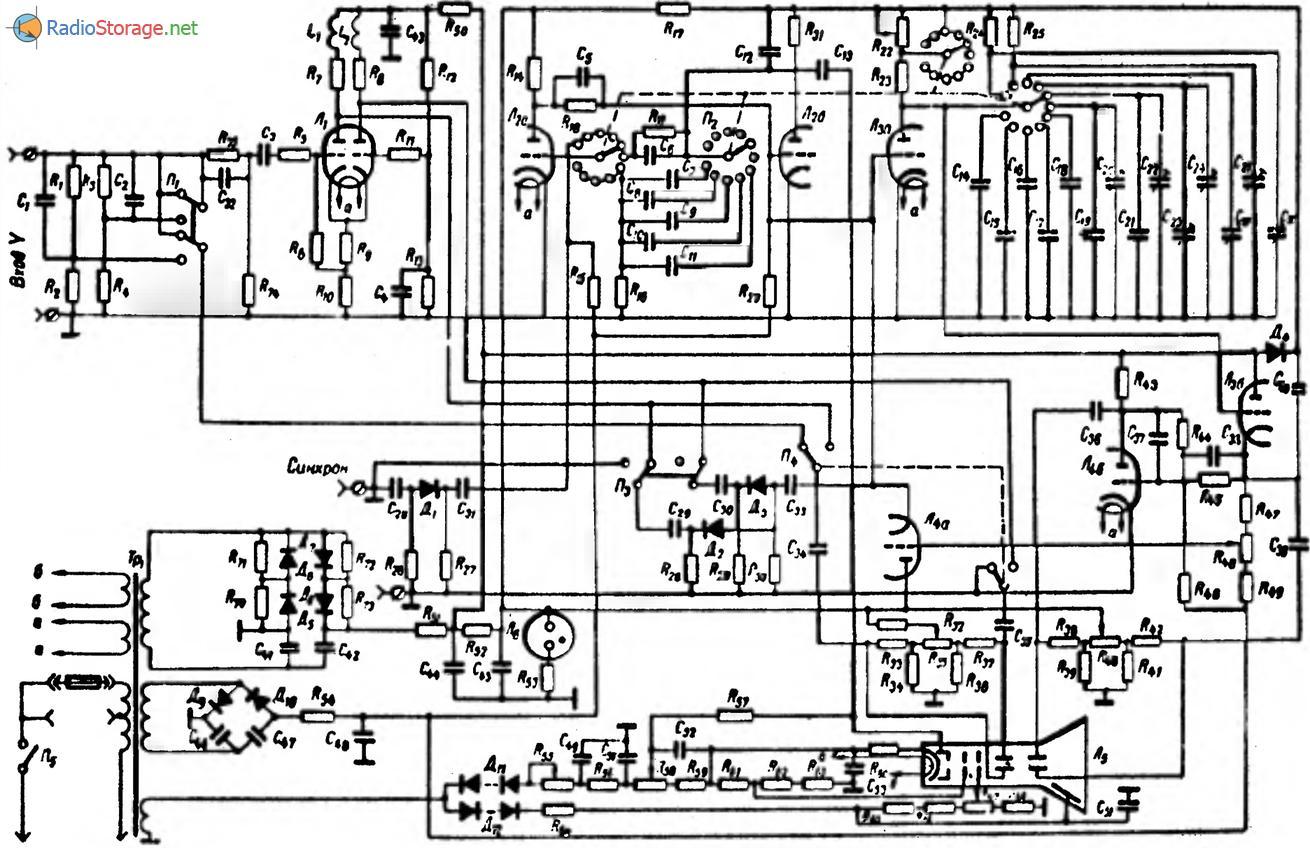 Осциллограф С1-6, схема