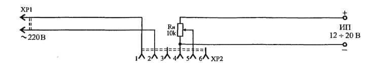 Приставка-контроллер к зарядному устройству аккумулятора 12В, схема