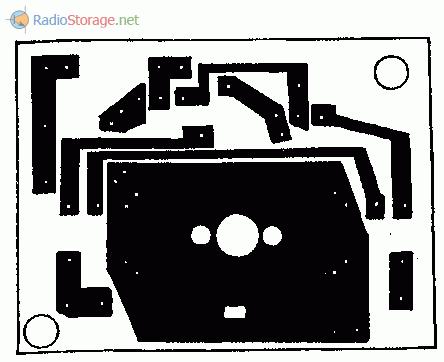 Печатная плата конвертера (вид со стороны дорожек)