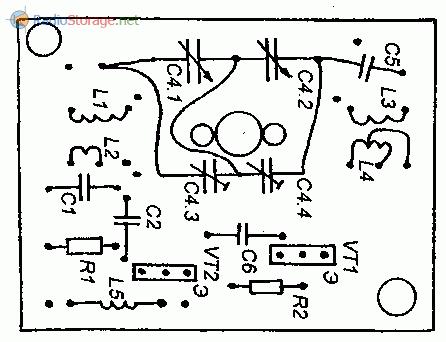 Печатная плата конвертера (вид со стороны деталей)