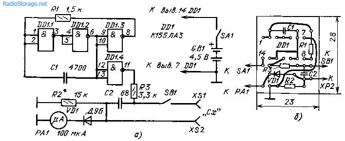 Испытатель конденсаторов (155ЛА3)