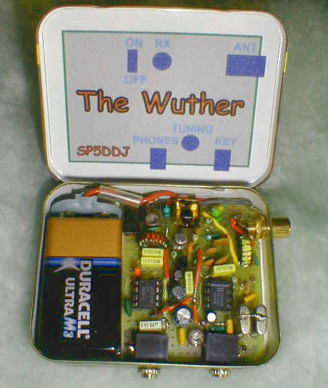 QRP CW микротрансивер Wuther 20m (14,032 - 14,065 MHz), схема