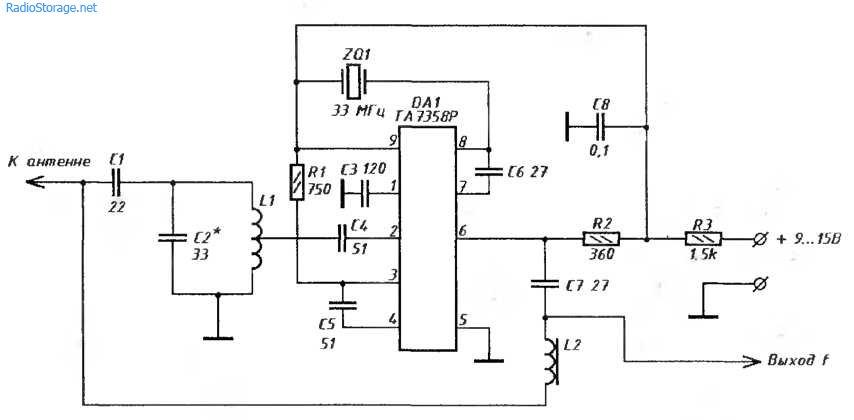 УKB-конвертер 88-108МГЦ в 55-75МГц