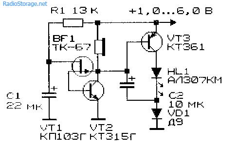 Схема низковольтного преобразователя напряжения 1-6В в 2В индуктивно-емкостного типа