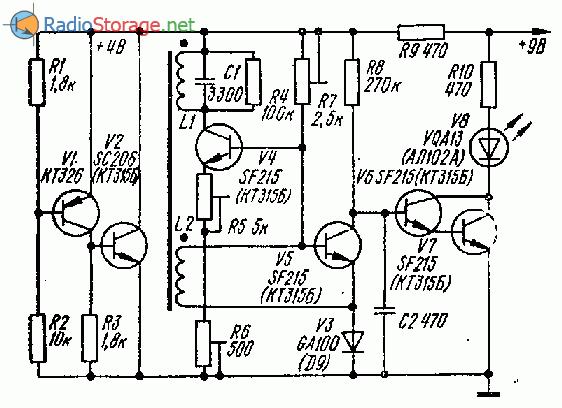 Простой металлодетектор на кремниевых транзисторах