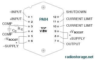 Обозначение выводов у микросхем Apex PA05, PA04
