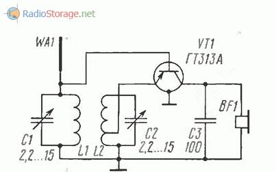 Детекторный УКВ приемник с частотным детектором