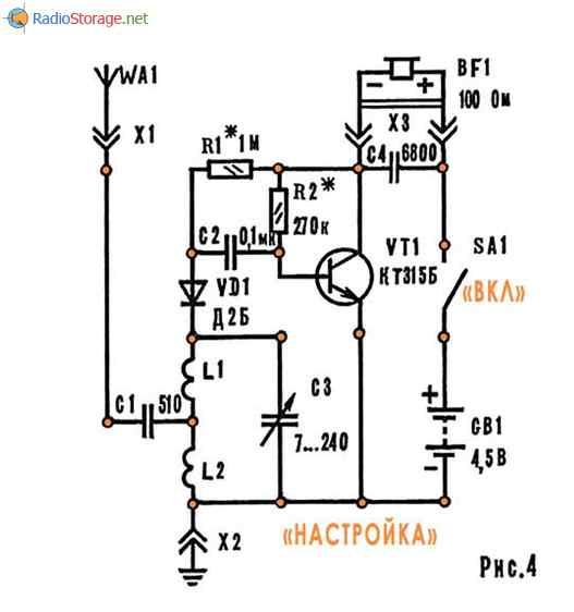 Самодельный радиоприемник на одном транзисторе