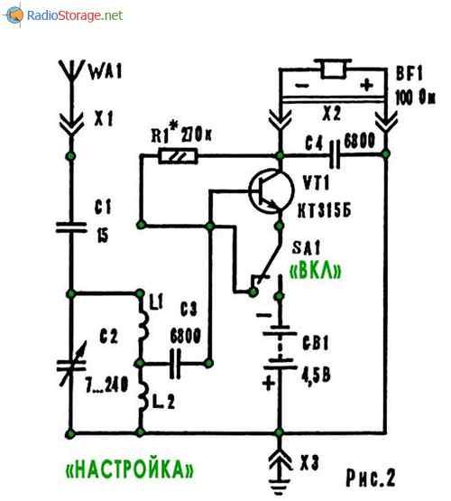 однотранзисторный КВ радиоприемник