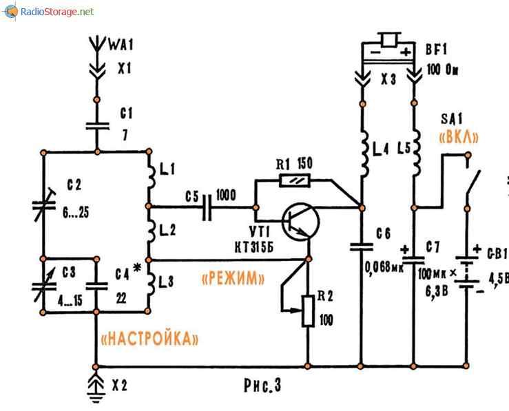 регенеративный радиоприемник на одном транзисторе