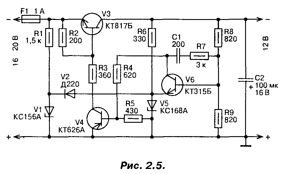 Стабилизатор напряжения 12 вольт 2 ампера тиристорный стабилизатор напряжения 15000
