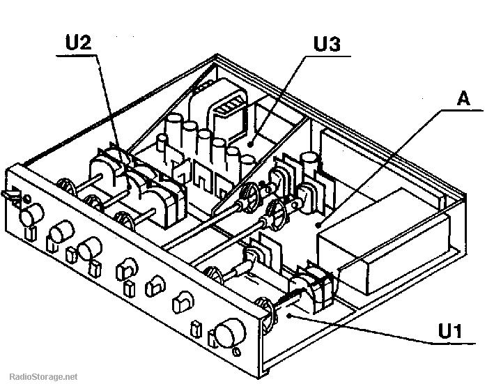Предварительный усилитель Радиотехника (Radiotehnika) УП-001, схема