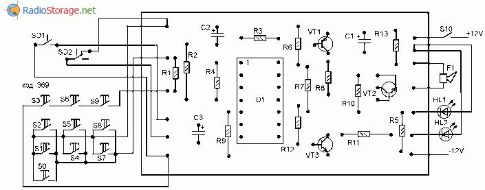 Монтажная схема охранной сигнализации