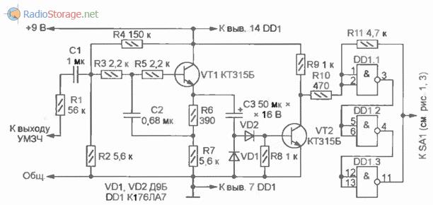Схема для привязки частоты переключения ламп к темпу ударных инструментов