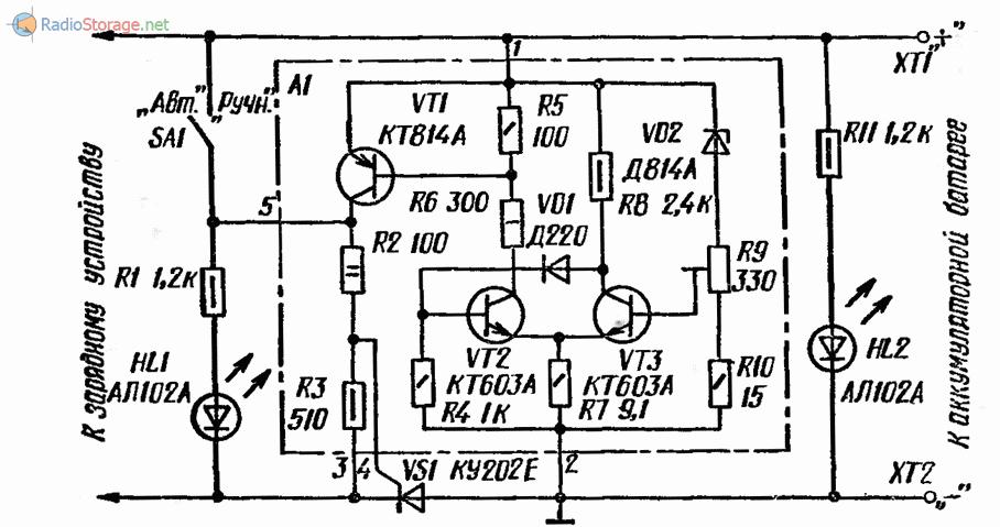 Принципиальная схема приставки-автомата