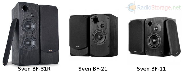 Внешний вид SVEN BF-31R, SVEN BF-21 и SVEN BF-11