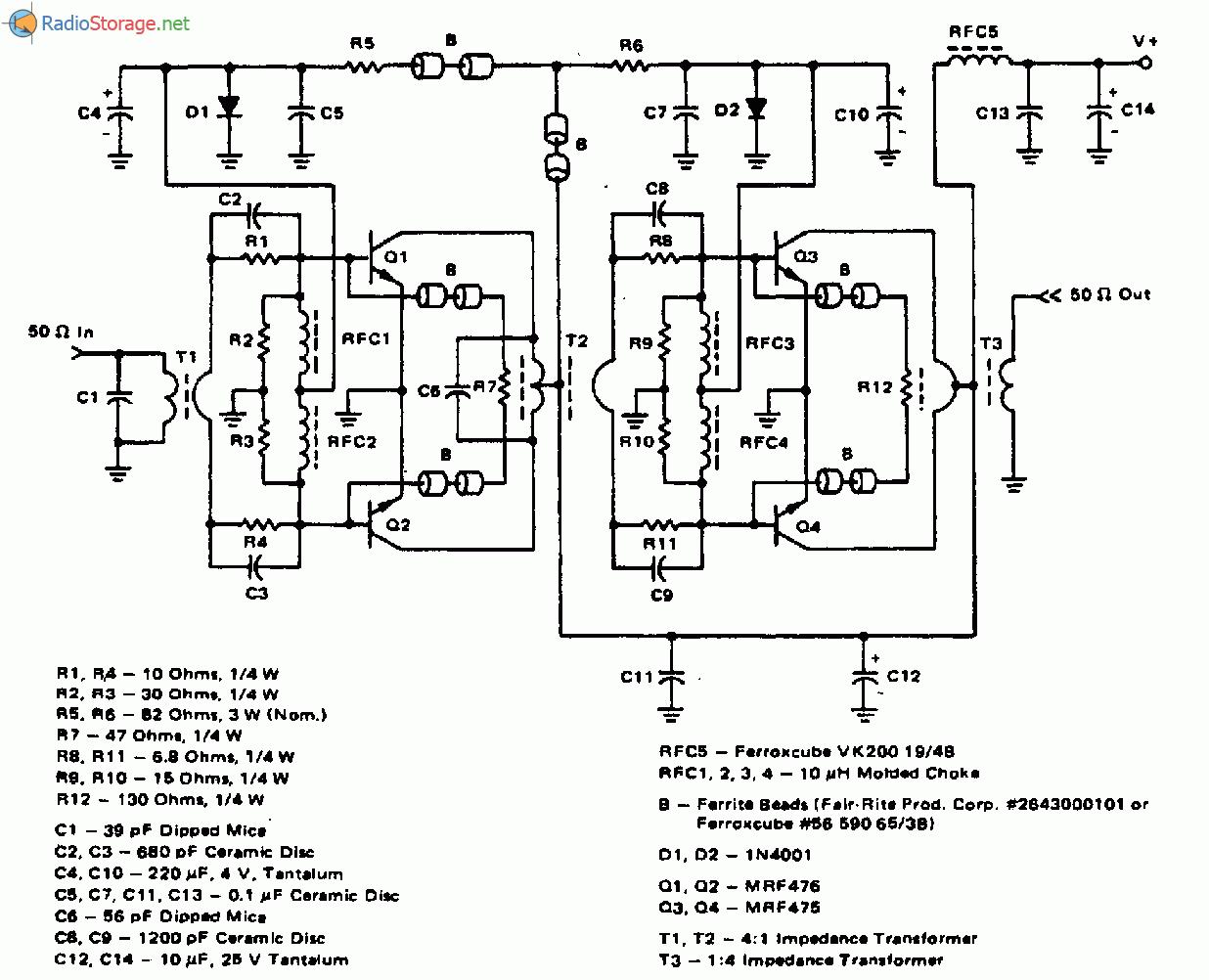 Усилитель мощности передатчика диапазона 16-30МГц 20Вт